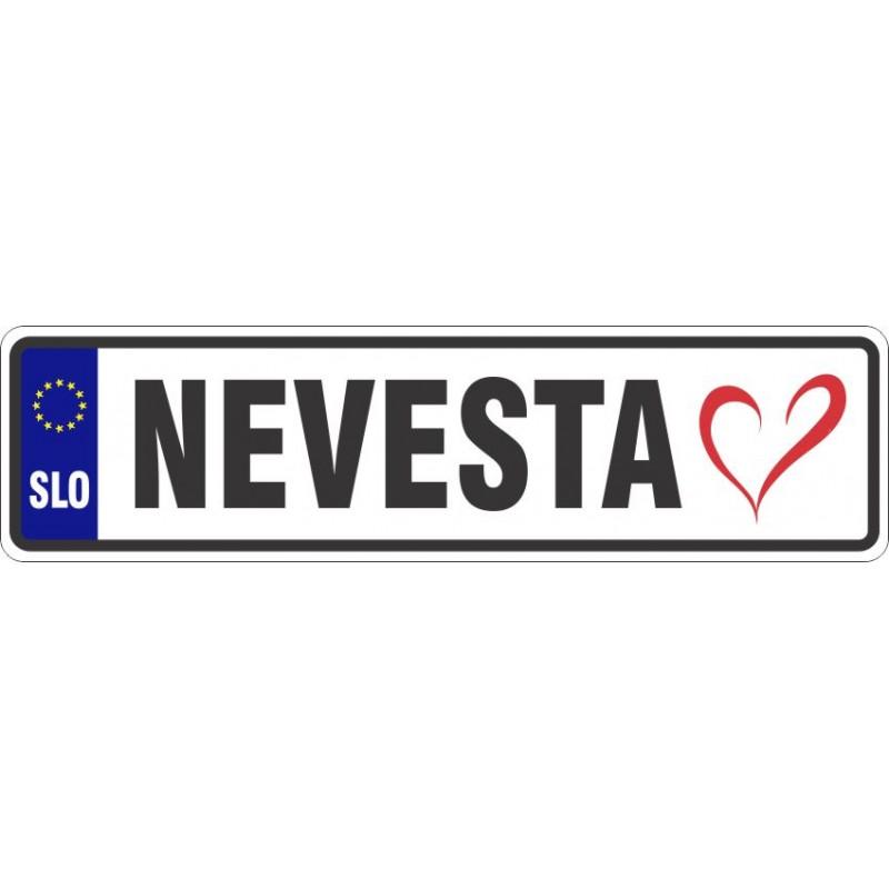 Registrska tablica z grbom + napis + simbol (srce)