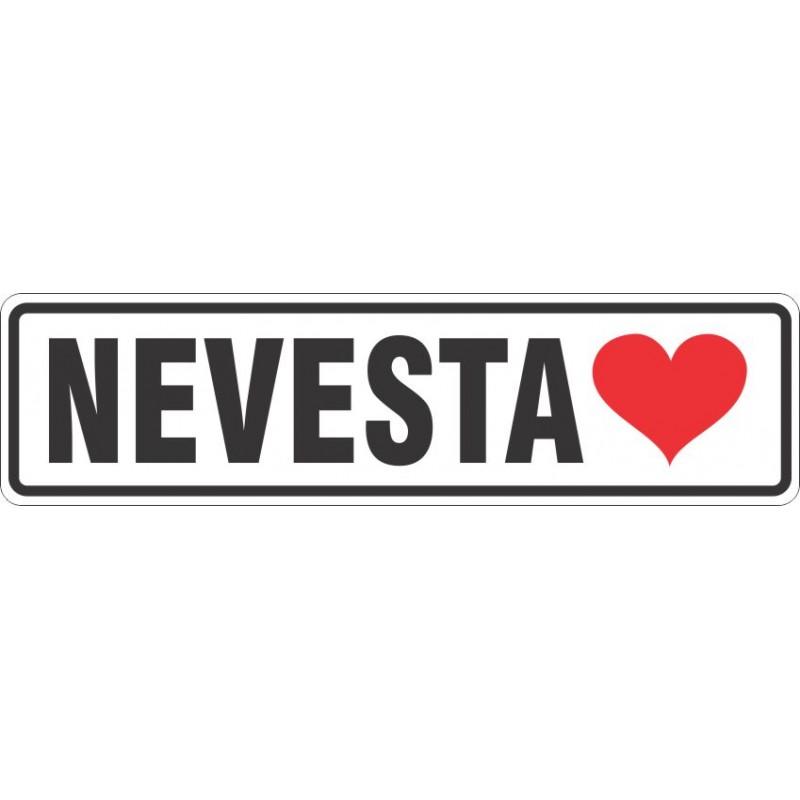 Registrska tablica + napis + simbol (srce)